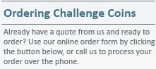 Ordering Challenge Coins