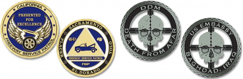California Freeway Service Patrol Challenge Coins