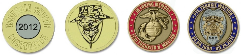 Custom Sniper Law Enforcement Coins
