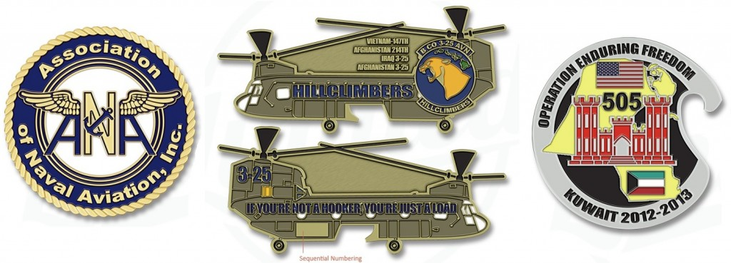 Helicopter Challenge Coins