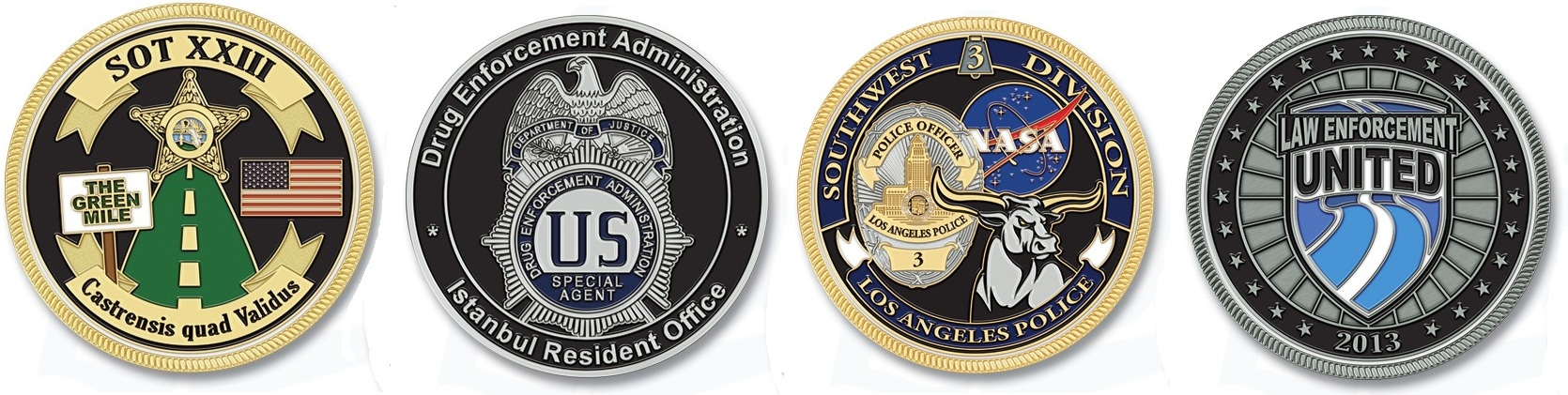 Custom Police Law Enforcement Challenge Coins Free Shipping