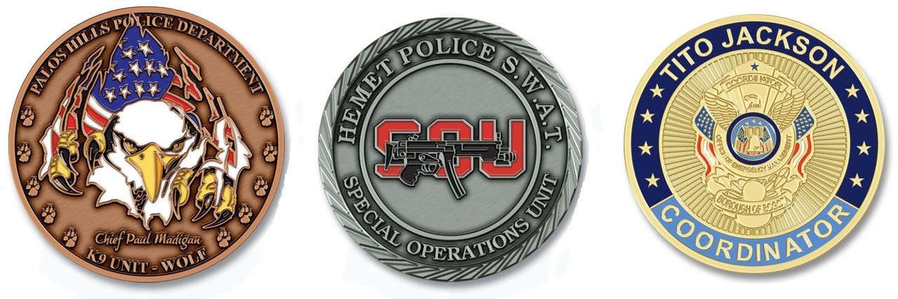 Police & Law Enforcement Challenge Coins | Challenge Coins
