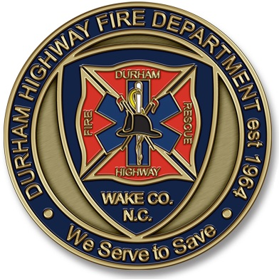 Durham Highway Fire Rescue Unit Coins
