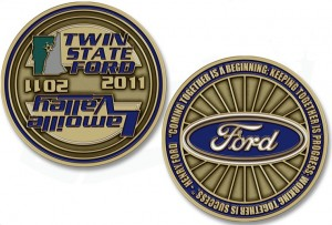 Twin State Ford Dealers Custom Coins