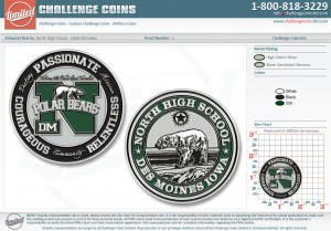 North High School Challenge Coins