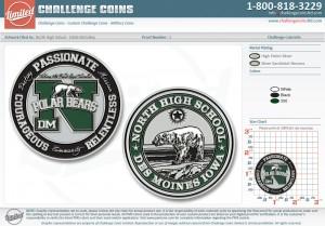 North High School Challenge Coins