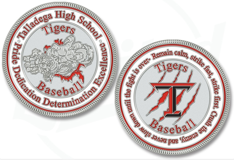 Baseball Challenge Coins: A Hit with Little League Teams
