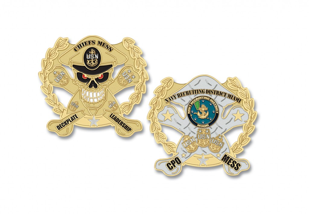 Chiefs Mess Navy Challenge Coin