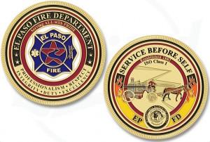 El Paso Texas FD Challenge Coin