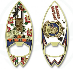 Hawaii Surfboard Challenge Coins