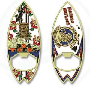 Hawaii Surfboard Challenge Coins