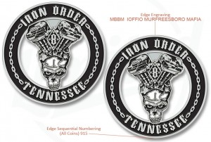 Iron Order Tennessee Motorcycle Club Challenge Coin