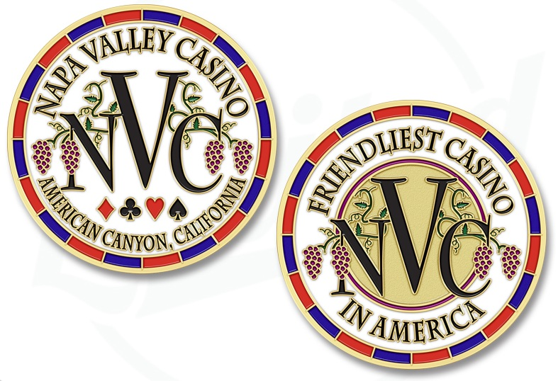 Napa Valley Casino Challenge Coins
