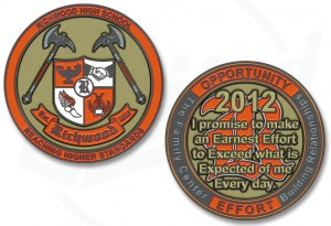 Richwood High Scool Challenge Coin