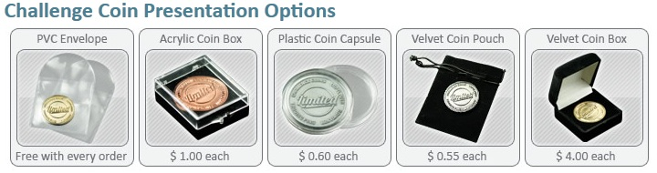 Coin Presentation Options