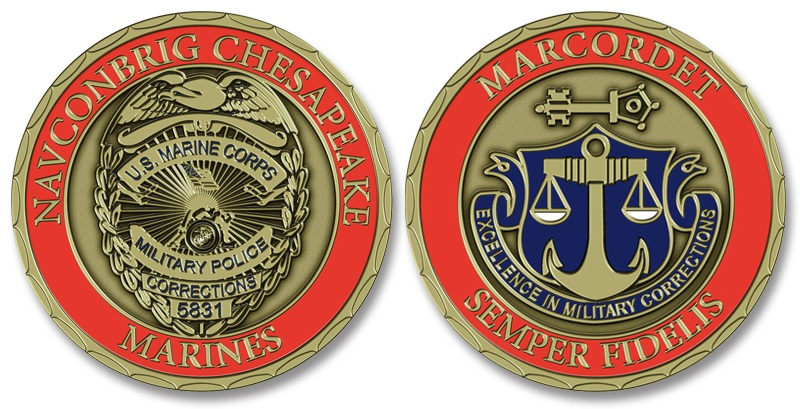 Edge Options for Military Challenge Coins