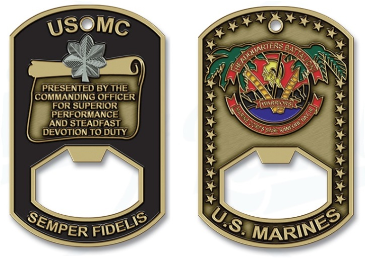 Military Challenge Coin Bottle Openers